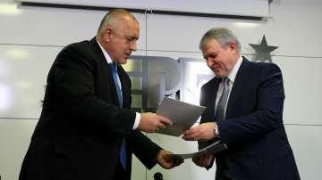 ГЕРБ и СДС подписаха предизборно споразумение за европейския вот