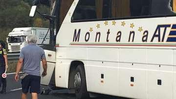 Автобус и ТИР катастрофираха на магистрала Хемус