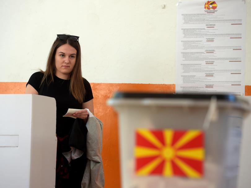 Снимка: Избирателната активност в Северна Македония е рекордно ниска