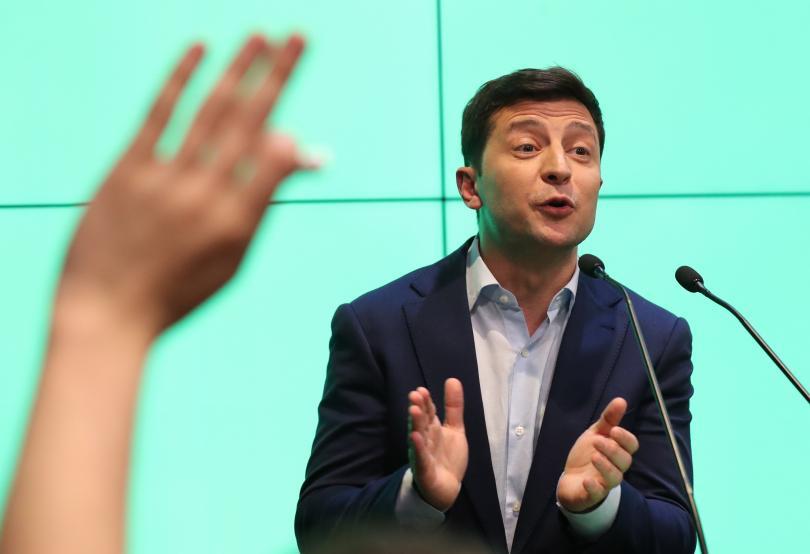 Снимка: Володимир Зеленски е новият президент на Украйна