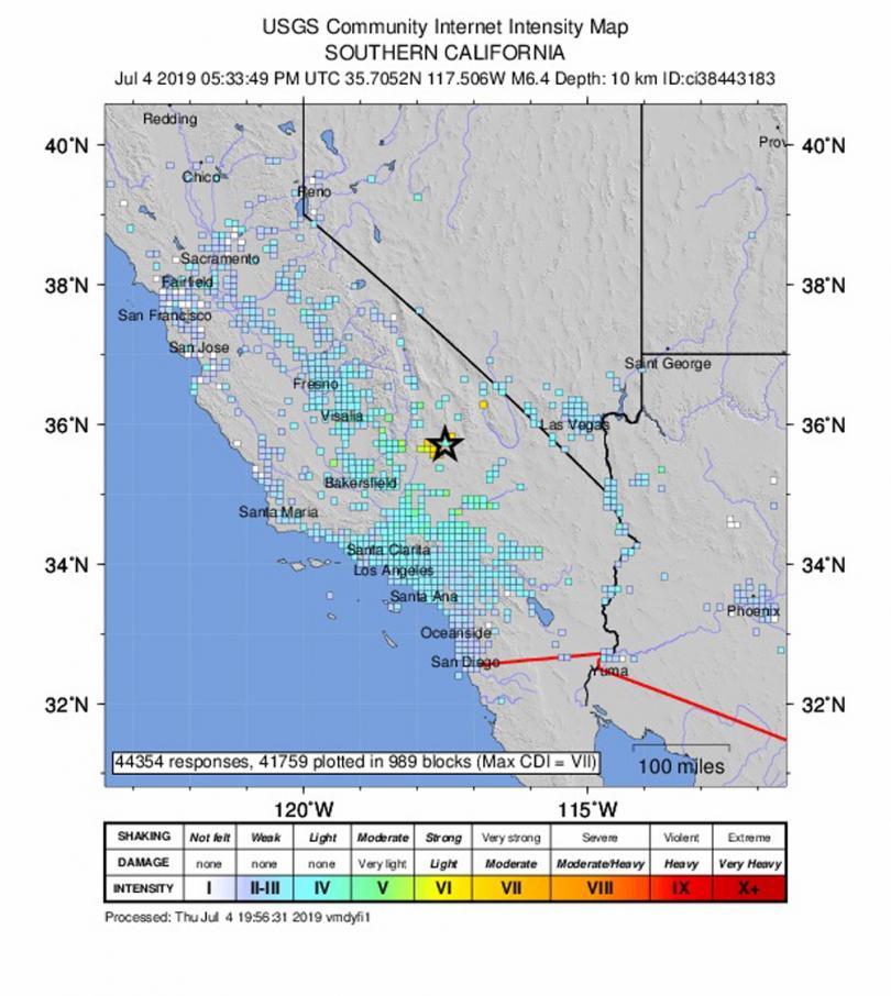 снимка 6 Силното земетресение в Калифорния не взе жертви (Снимки)