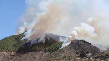 Огромен пожар на Канарските острови наложи евакуация на над 400 души