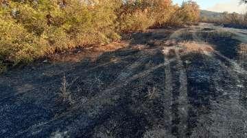 Все още не е загасен пожарът между хасковските села Брягово, Родопи и Любеново
