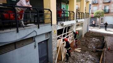 Много улици в Мадрид се оказаха под вода