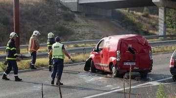 Двама пострадаха при катастрофа на Е-79 край Благоевград