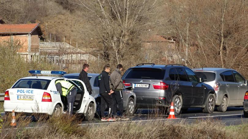 снимка 2 Верижна катастрофа затапи Е-79 край Благоевград