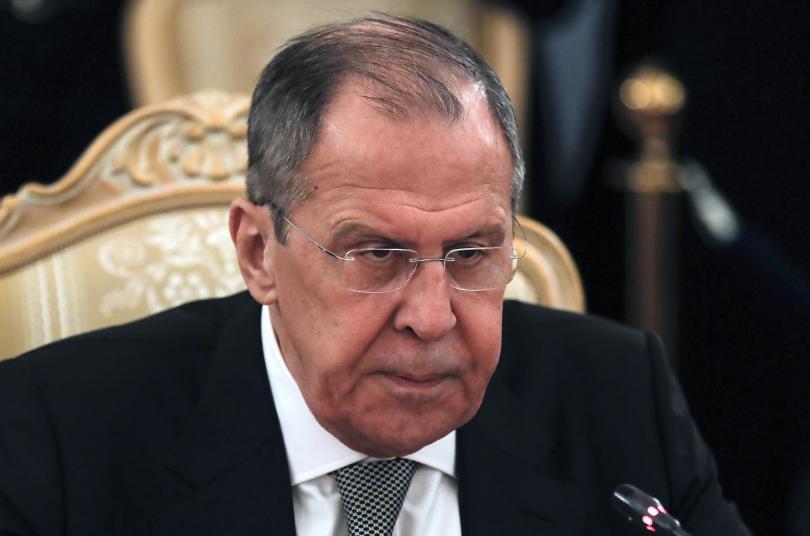 Руският външен министър Сергей Лавров и върховният представител на Европейския
