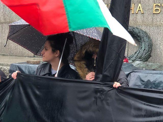 снимка 1 С викове Оставка започна протестът на майките пред НС