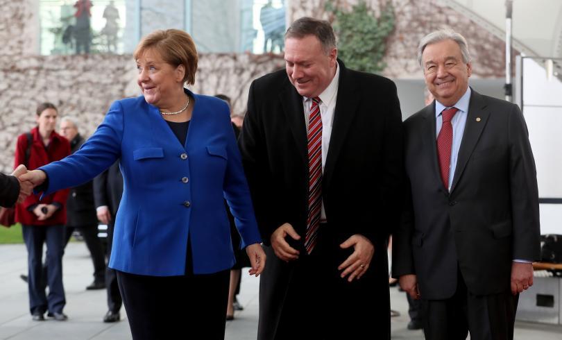 снимка 1 Световните лидери се събраха на среща в Берлин за конфликта в Либия (СНИМКИ)