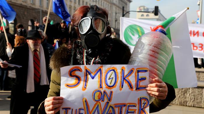 Перничани протестираха с празни бутилки за вода в столицата