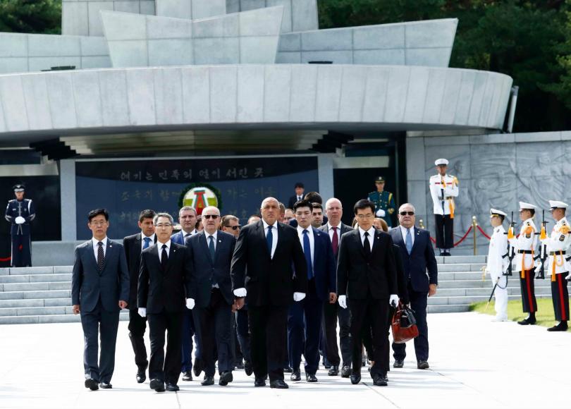 снимка 5 Първи ден от посещението на премиера Бойко Борисов в Южна Корея