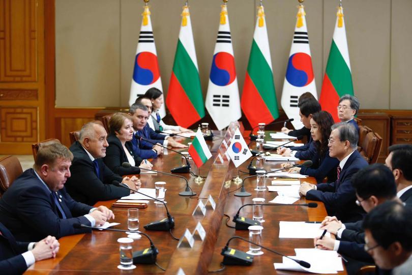 снимка 1 Премиерът Бойко Борисов се срещна с президента на Южна Корея Мун Дже-ин