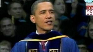 Протести срещу Обама при посещението му в католическия университет Нотр дам