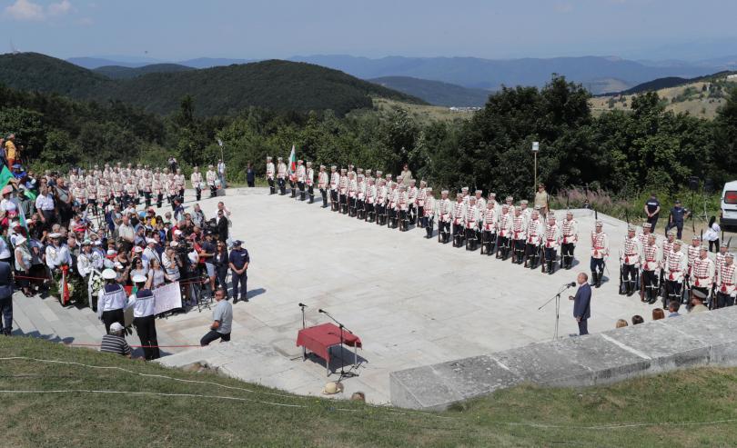 снимка 1 Румен Радев: Шипка е нашият храм на свободата (СНИМКИ)