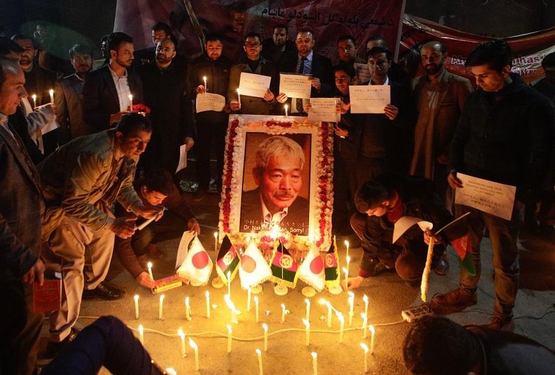 Траурни бдения в Кабул за убития в атентат японски лекар.©