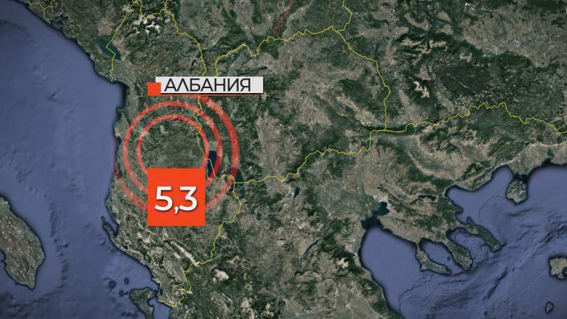 снимка 1 Няколко силни земетресения разлюляха югоизточната част на Албания