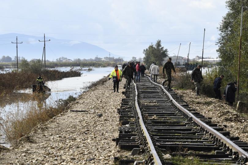 снимка 1 Евакуация в Албания заради наводненията