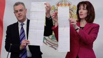 ЦИК показа бюлетините за парламентарните избори