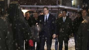 Сръбският президент на визита в Косово