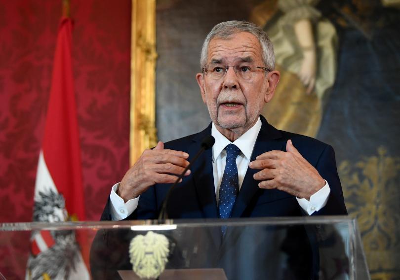 Австрийският президент Александър Ван дер Белен направи обръщение към нацията,
