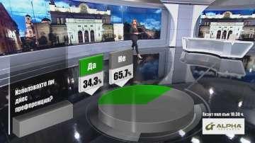 Алфа Рисърч: Над 30 % са използвали преференции в деня на вота