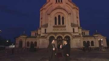 Преди великденската литургия в храм Св.Александър Невски