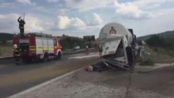 Километрично задръстване заради катастрофа на АМ Тракия