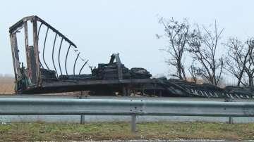 ТИР се запали тази нощ на магистрала Тракия край Пловдив