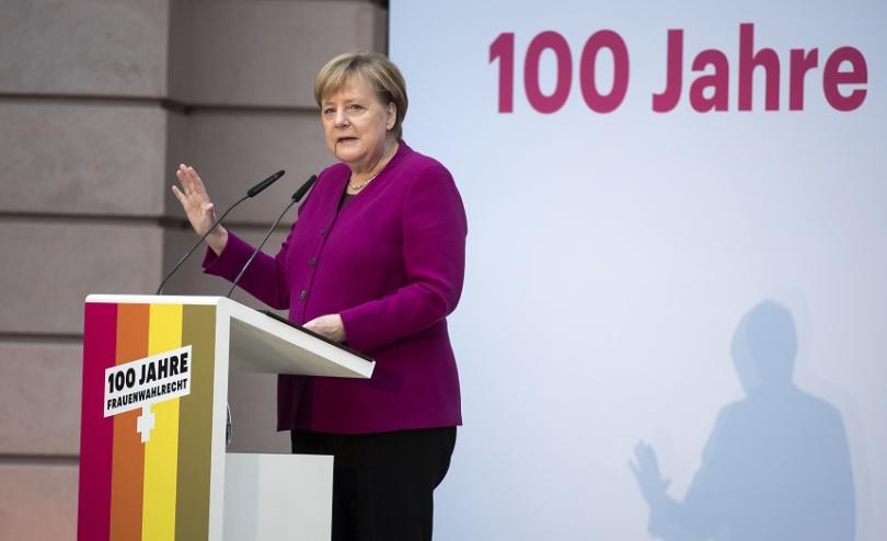 ангела меркел отбеляза стогодишнината даването избирателни права жените