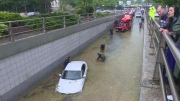 Наводнения в Анкара след обилните валежи