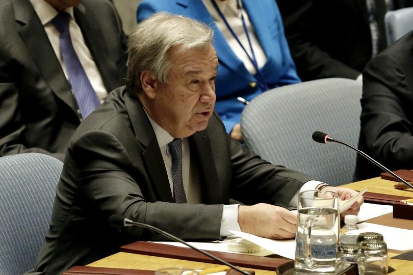 Генералният секретар на ООН Антониу Гутериш призова да бъде възобновено
