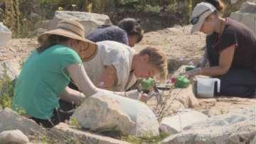 Чуждестранни доброволци участват в консервацията на храм в крепостта Палматис