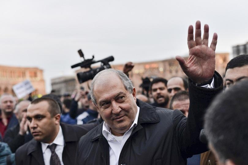 Президентът на Армения Армен Саркисян днес вечерта отиде на