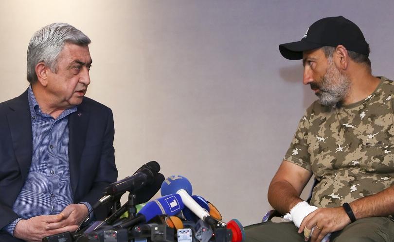 След 9 дни протести, лидерът на протестиращите в Армения и
