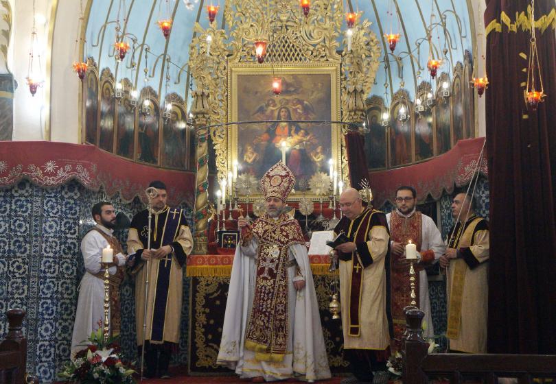 С тържествена литургия Арменската църква