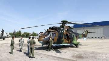 """Вертолет """"Кугър"""" в състава на Българските ВВС"""
