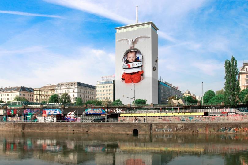 българка опакова емблематична сграда центъра виена