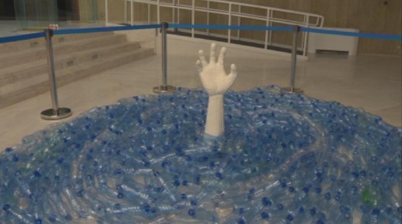 С арт инсталации от пластмаса НДК даде началото на кампанията