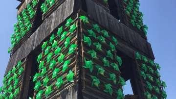 Старата пожарна кула в Самоков преобразена в арт инсталация (СНИМКИ+ВИДЕО)