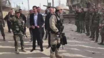 Башар Асад направи рядка публична поява в Източна Гута