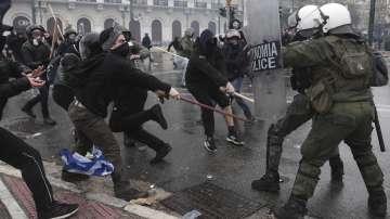 Десетки ранени на митинг в Атина срещу Споразумението от Преспа