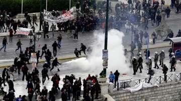 Сблъсъци в центъра на Атина по време на 24-часовата стачка