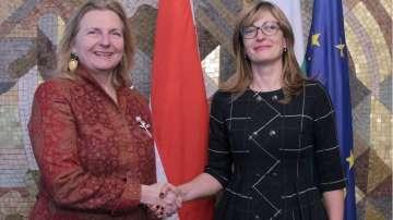 Външният министър на Австрия на посещение у нас