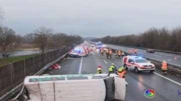Катастрофа с българи в Австрия, 7 души са ранени