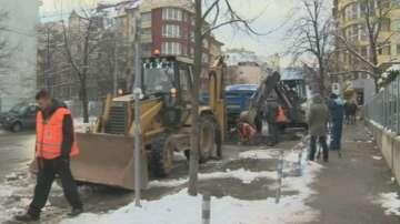 Спукан главен топлопровод е причината 4 квартала в София да останат без парно