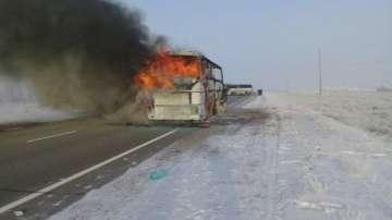 Изгорелият в Казахстан автобус е бил стар и незаконен
