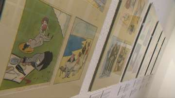 Изложба на шаржовете на Александър Добринов в Софийската градска галерия