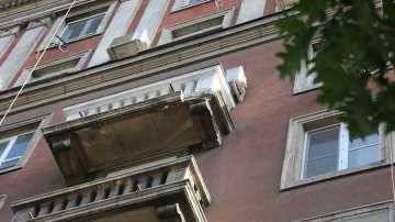 Дадоха 60 дни за ремонт на сградата, чийто балкон падна в центъра на София