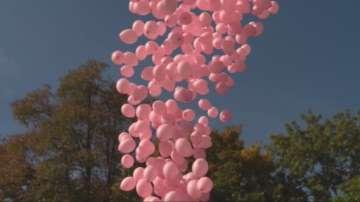 1200 розови балона полетяха над НДК в памет на жените, загубили битката с рака