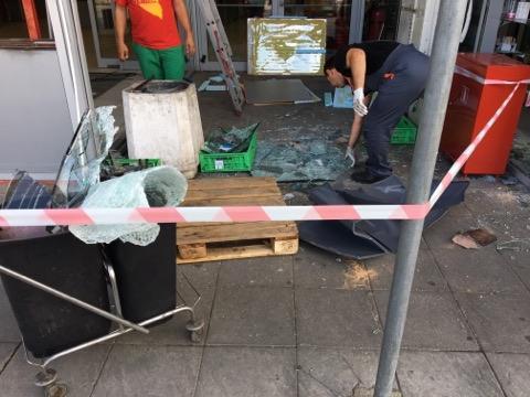 снимка 1 Банкомат е взривен в столичния квартал Люлин